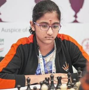 Rakshitta in joint lead at World youth under 14 girls section!