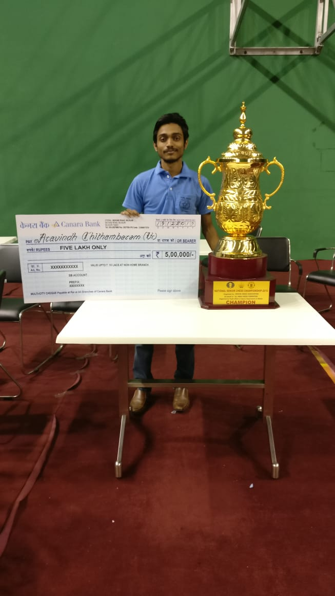 Chessgurukul's Aravindh Chithambaram wins Indian National Championship for second time!