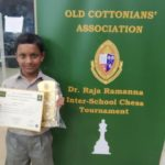 Siddanth wins the OCA Dr. Raja Ramanna Interschool Chess