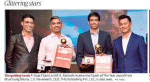 GM RB Ramesh wins Sportstar Aces 2020 Coach of the Year Award
