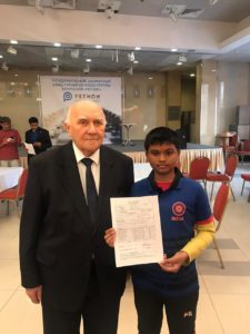 Congratulations Pranesh for becoming an IM in Aeroflot open
