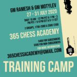 GM Ramesh and GM Motylev Training Camp – Jul 27-31, 2020