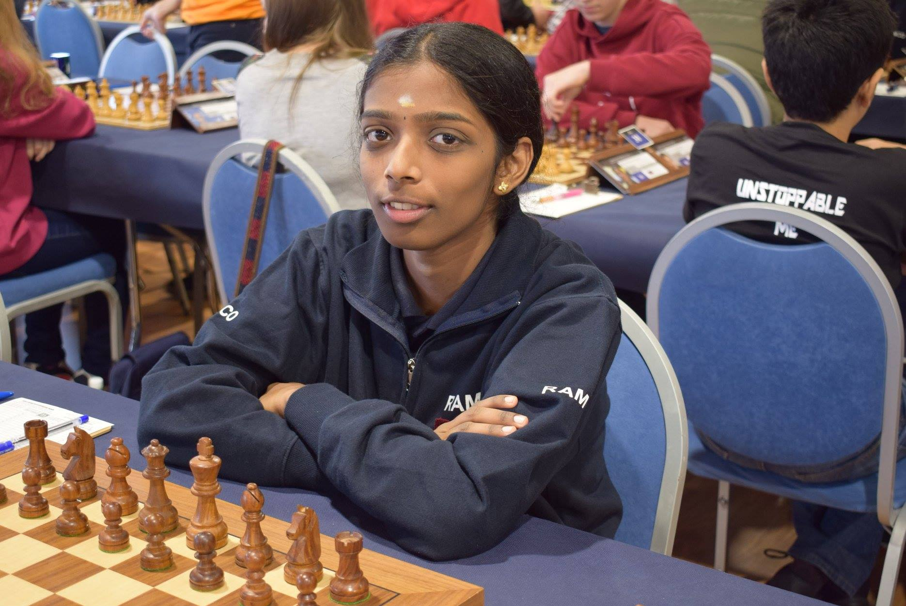 Vaishali wins Gold on top board for India – Asian online Nations Cup for Women!