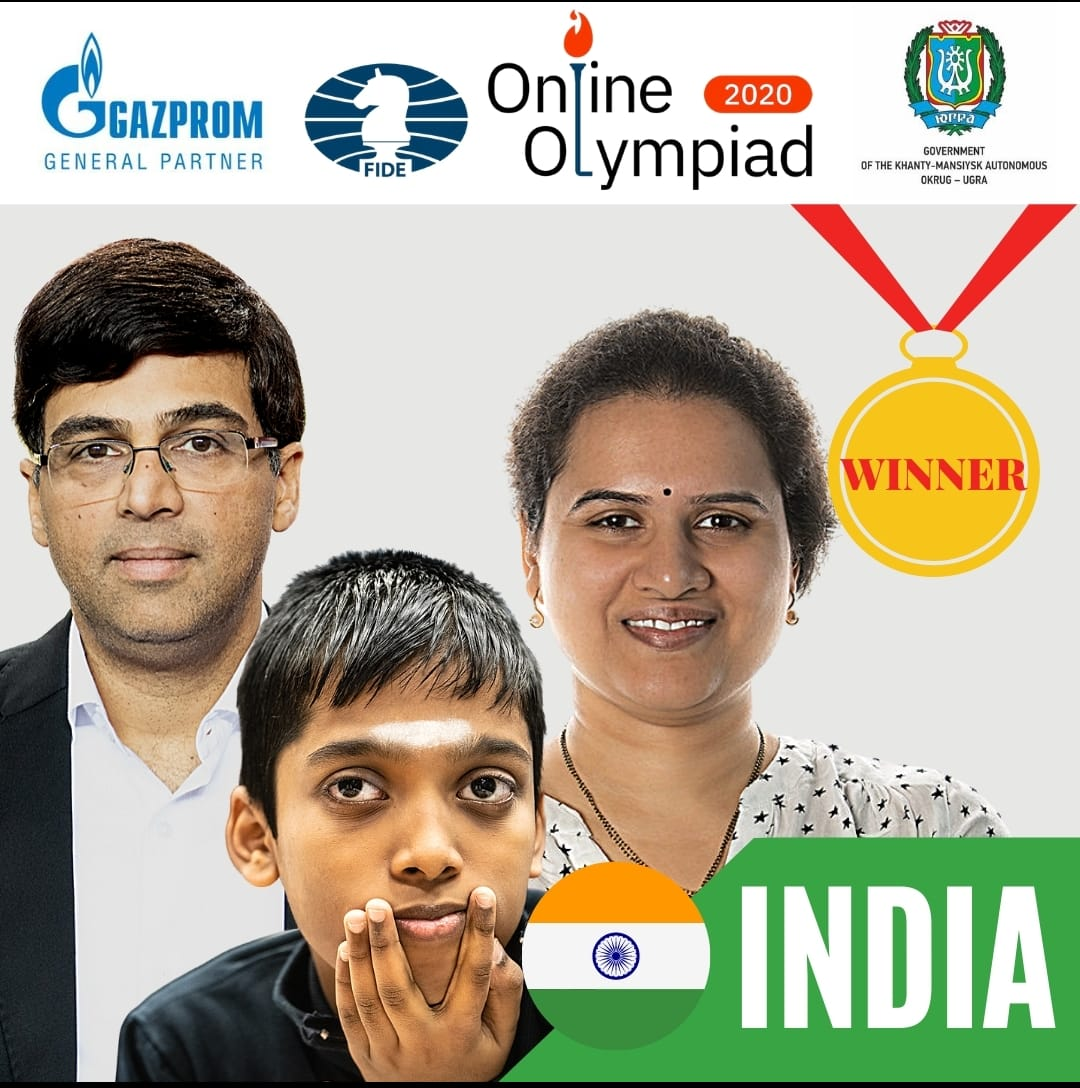 Team India is co-champion in Online Olympiad 2020