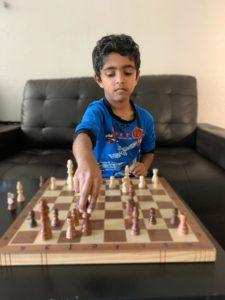 Advaith won the 1st Chess Gurukul Global U500 tournament for US students