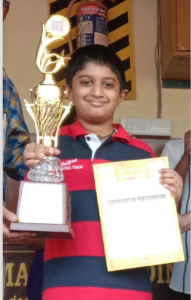 Sanchith won the 3rd CG Advanced for Indian students
