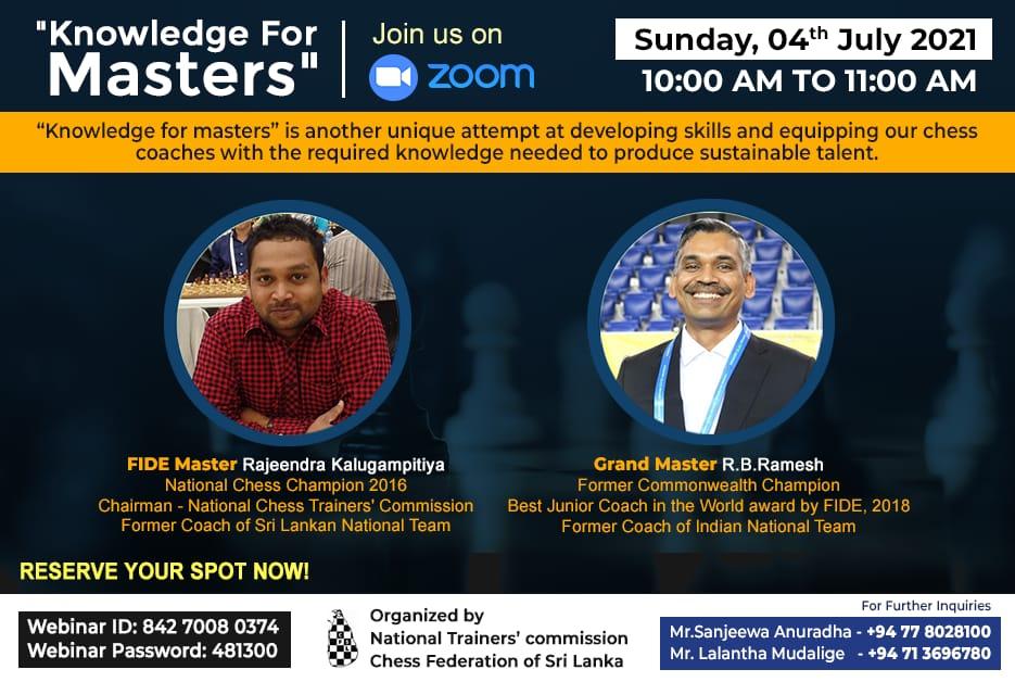 GM RB Ramesh gave training to FIDE Trainers in Srilanka